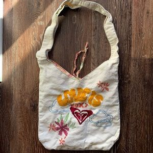 ROXY hobo cotton tote purse